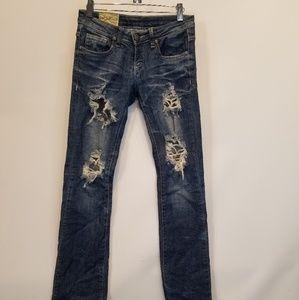 Machine Italian Distressed Jeans Size 26